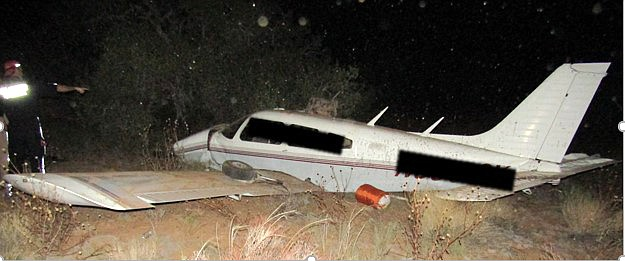 A private airplane crashed upon approach to the Page Airport Sept. 22. (Photo/Coconino County Sheriff's Office)