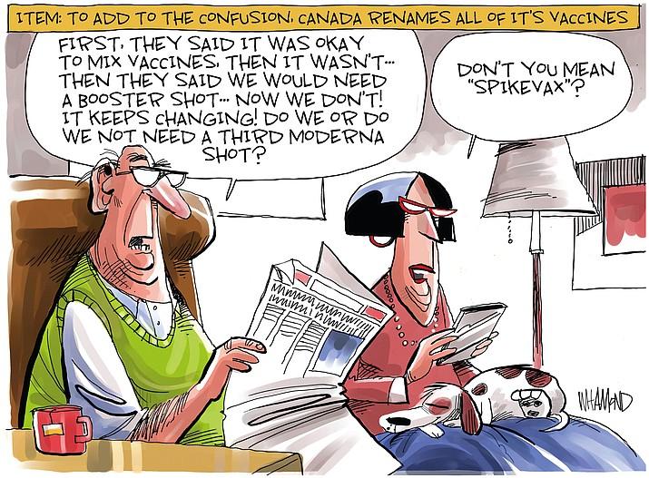 Editorial cartoon (2): Sept. 25, 2021