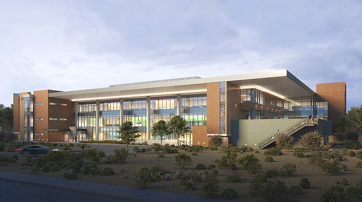 A final rendering of what will be the new YRMC's Outpatient Services Building West that's set to open in stages starting in late October. (Courtesy)