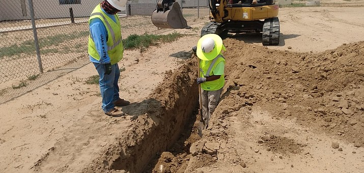 Trenching water lines. (Submitted photo)