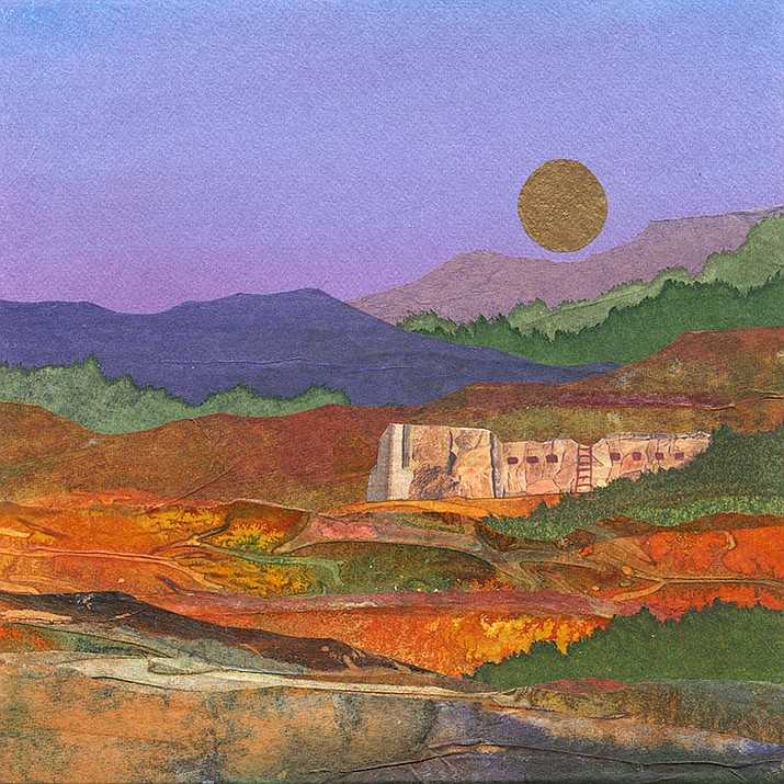 Southwest by Birgitta Lapides, Mixed Media. (Jerome Artists' Cooperative Gallery/Courtesy)