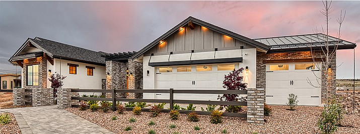 Capstone Homes at Jasper floorplan 2672 shown with some options and upgrades. (Capstone Homes AZ/Courtesy)
