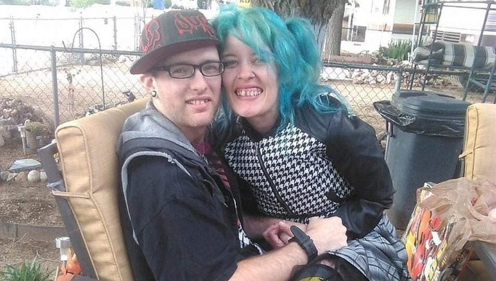 The Kingman Police Department is searching for a missing married couple Erika Irene Allison, 36, and Joshua Robert Martinez, 30, along with their 17-year-old son Psymon J. Kelly. The family went to Katherine Landing near Bullhead City to camp on Saturday, Sept. 11 and haven't been seen since. (KPD courtesy photo)