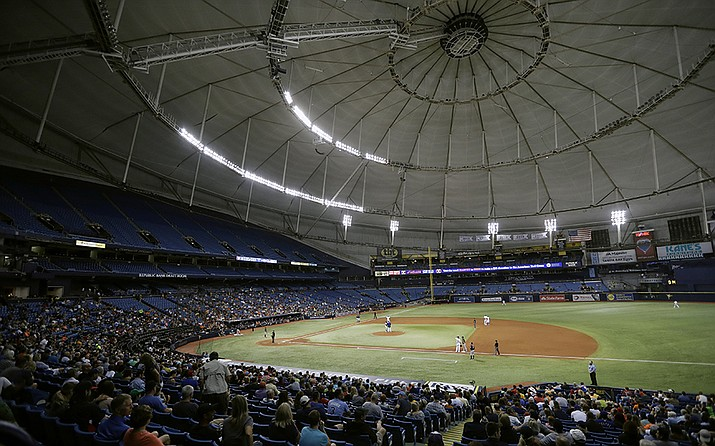 Tropicana Field, home of the Tampa Bay Rays. (AP file photo)