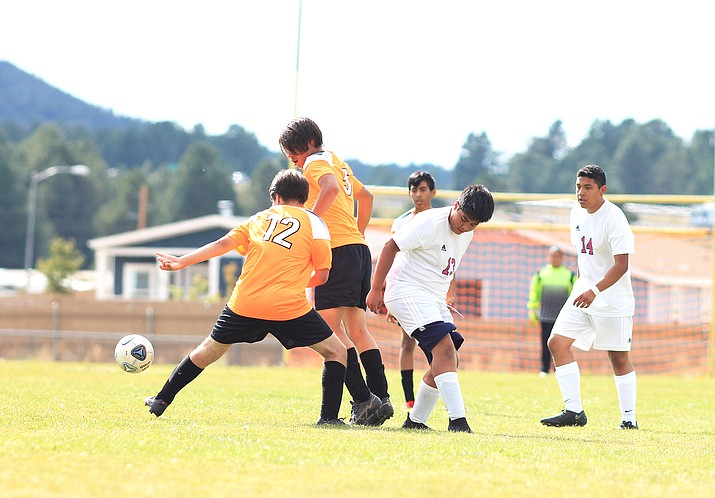 The Grand Canyon varsity soccer team defeated Williams 8-0 in Williams Oct. 2.  (Loretta McKenney/WGCN)