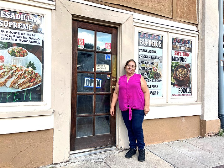 Mireya Enriquez has opened Nany's Tacos on Second Street in Williams. (Wendy Howell/WGCN)