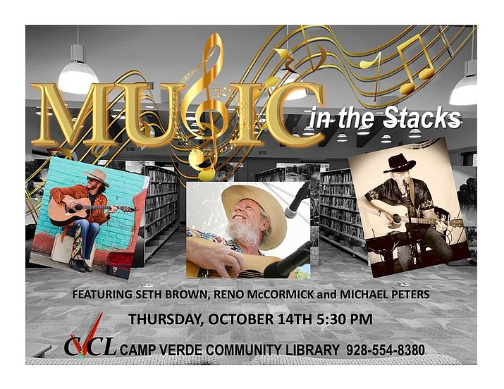 Music in the Stacks returns to the Camp Verde Library on Thursday, Oct. 14, 2021. (CVL/Courtesy)