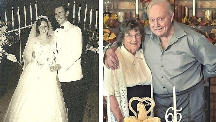 "Jo Anne and Richard ""Bill"" Thornton of Kingman celebrated their 65th wedding anniversary on Sept. 23, 2021. (Courtesy photos)"