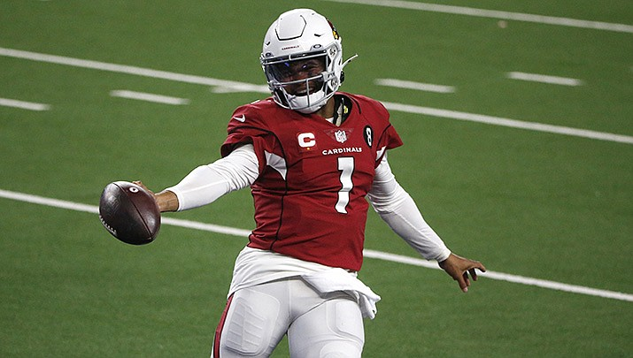 Kyler Murray and the Arizona Cardinals, the NFL's only undefeated team at 4-0, will host the San Francisco 49ers on Sunday, Oct. 10. (AP file photo)