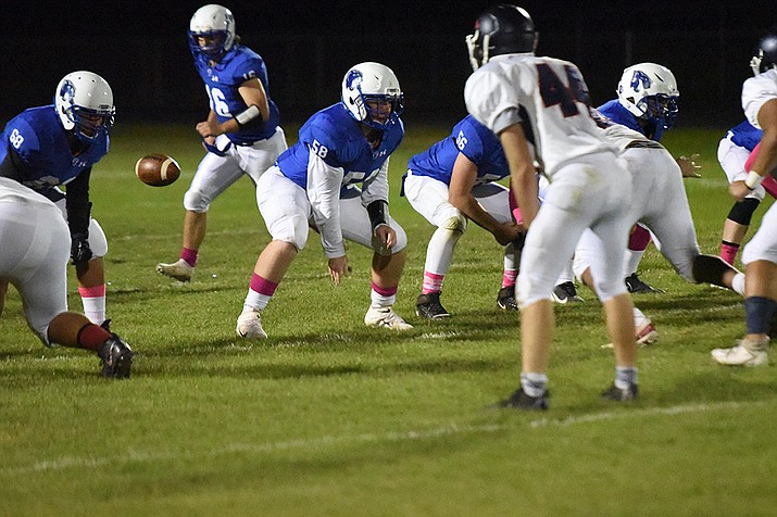 The Chino Valley football team, shown here against Coronado Oct. 1, was routed 63-0 by Yuma Catholic Friday night, Oct. 8. (Jesse Bertel/Courier file photo)
