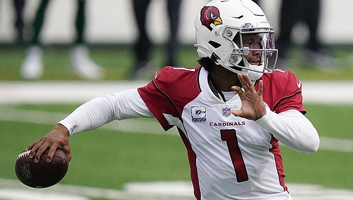 Kyler Murray threw for 239 yards and the Cardinals won over the 49ers 17-10, making them 5-0 for the first time since 1974. (AP file photo)