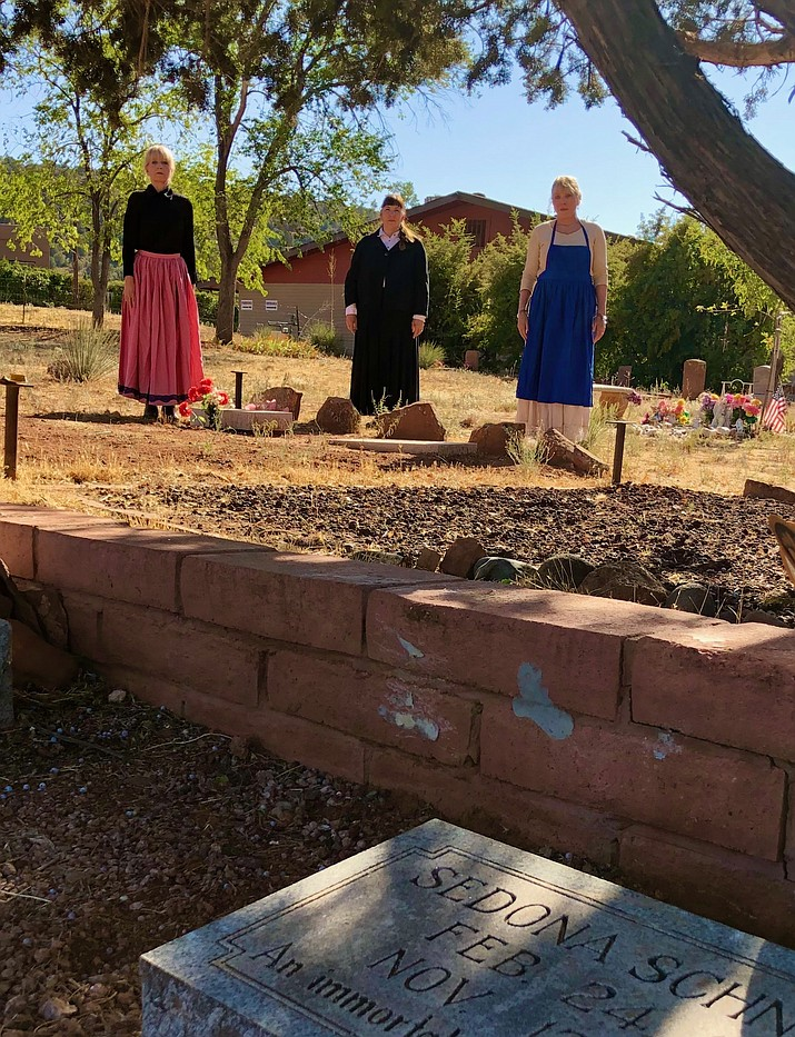 Cooks reenactors at Sedona Schnebly's grave. (Sedona Heritage Museum/ Courtesy)