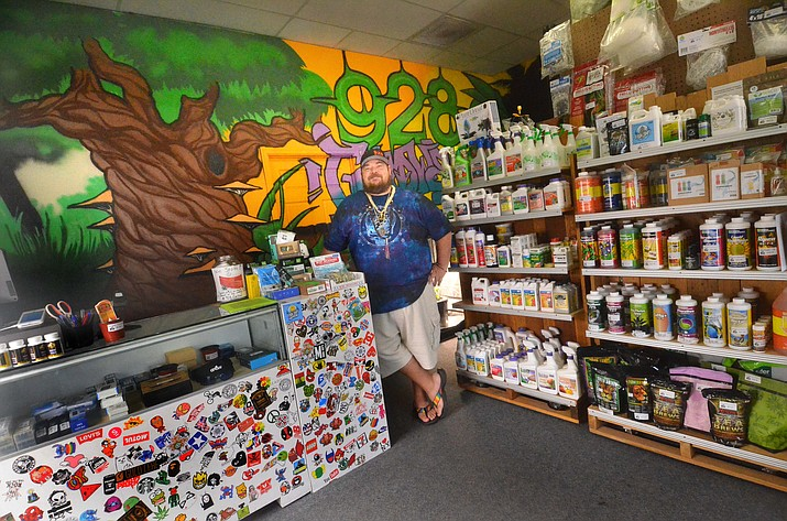 Benji Ingram, manager at 928 Grow, Indoor Garden Supplies, said on Monday, Oct. 11, 2021, he believes many people are taking advantage of Arizona's new recreational cannabis law that lets them grow plants at home. (Vyto Starinskas/Independent)