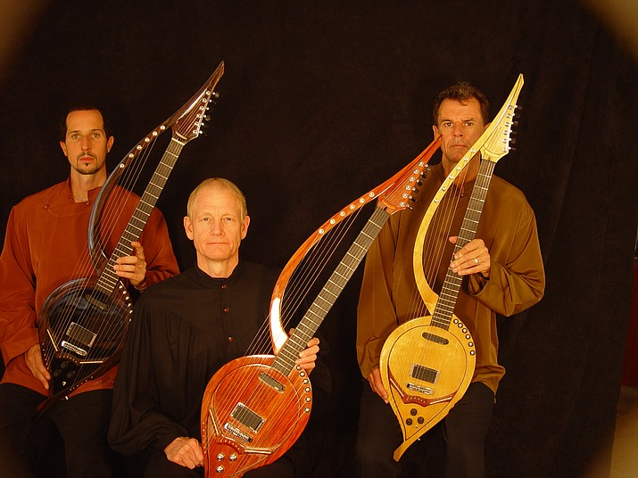 The Electric Harp Guitar Group (EHGG) is visionary guitarists William Eaton, Anthony Mazzella, and Fitzhugh Jenkins. (Old Town Center for the Arts/Courtesy)