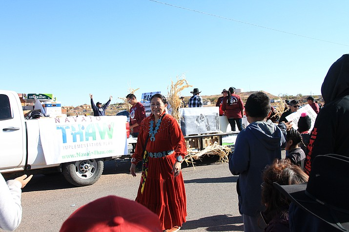 A parade is held in Tuba City, Arizona, in 2019. Indigenous People's Day takes place Oct. 11. Virtual events are planned in Flagstaff (Loretta McKenney/NHO)