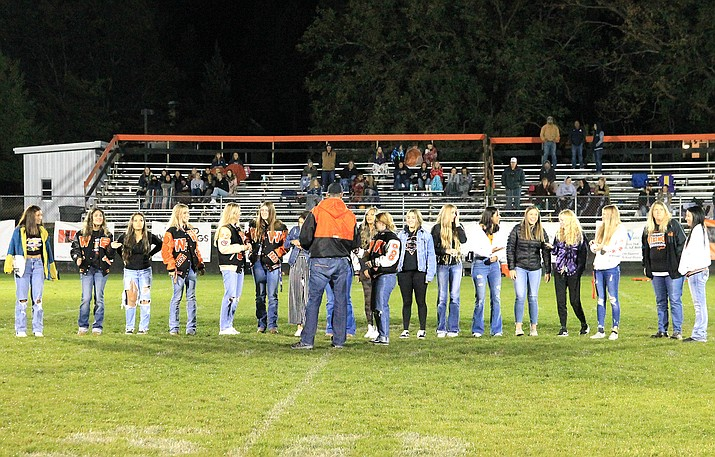 The Williams Vikings softball team was recognized for their 2021 State Title win Oct. 1. The girls were honored with championship rings that were distributed during halftime of the Homecoming game. (Wendy Howell/WGCN)