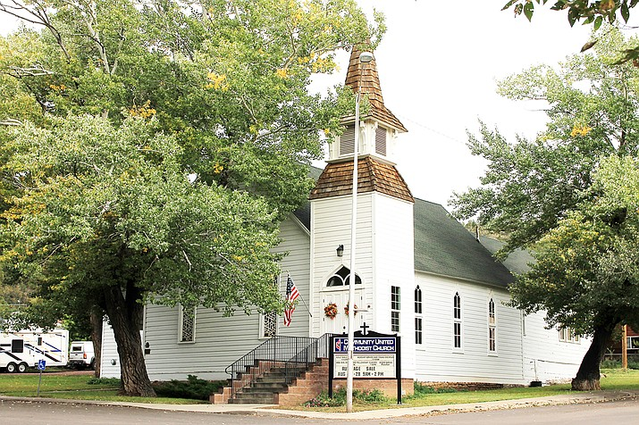 The United Methodist Church of Williams turned 130 years old in May of this year. (Wendy Howell/WGCN)