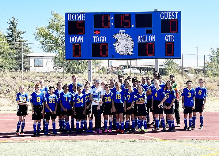 Ash Fork Middle School defeated Williams Oct. 9, 5-0 during the last game of the season.  (Photo/Sonny Martin)