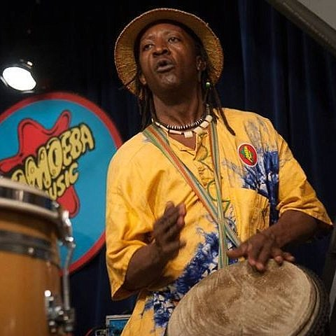"""Join Baba """"Vusi"""" Shibambo, South African drummer, and Terri Conti, acclaimed accordionist, for a magical evening of world fusion music blending the classical sounds of the accordion with the ancestral rhythms of the African bush in """"A World Fusion Musical Journey: From Africa Across the Seven Seas."""" (SIFF/Courtesy)"""