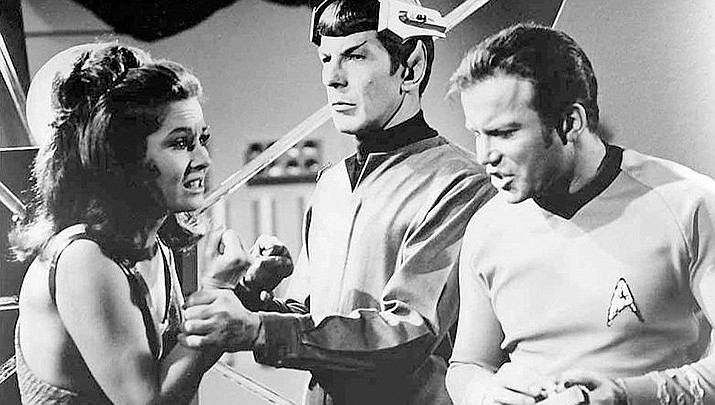 William Shatner, who played Captain Kirk on Star Trek, is prepared to make a space flight on Wednesday, Oct. 12 in Jeff Bezos' Blue Origin spacecraft. (Public domain/https://bit.ly/3iYATwK)
