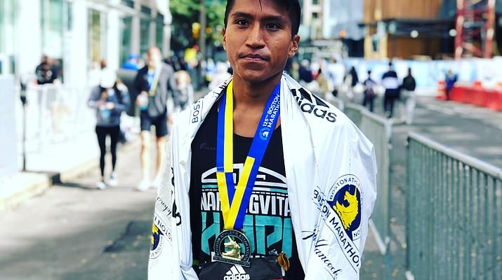 Hopi runner Kyle Sumatzkuku finishes 48th out of 18,000 runners at Boston Marathon