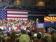 Video By Brian M. Bergner Jr./The Daily Courier Presidential candidate Donald Trump visited the Prescott Valley Event Center on Tuesday, Oct. 4.