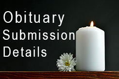 Obituary submission details