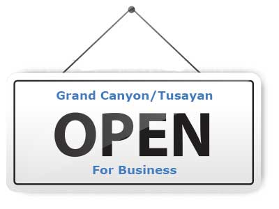 Grand Canyon Open for Business