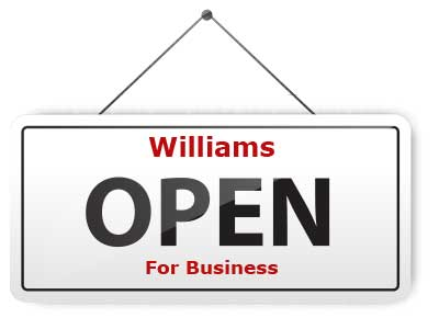 Williams Open for Business